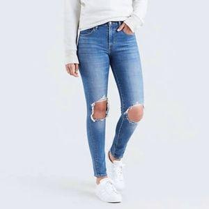 Levi's 721 Hi Rise Ripped Skinny Jeans Size 24